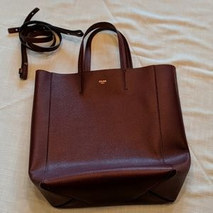 Celine Paris Burgundy Leather Purse